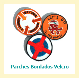 parches bordados velcro personalizados